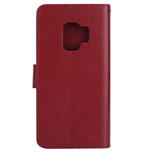 Cover-Samsung-Galaxy-S9-Custodia-Samsung-Galaxy-S9-ysimee-Samsung-Galaxy-S9-Custodia-in-pelle-case-lusso-diamante-gufo-portafoglio-Leather-Flip-Case-Cover-Wallet-Pouch-Cover-Protezione-Con-Morbida-Sil