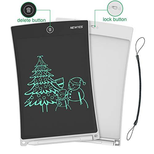 NEWYES NYWT850 Tavoletta Grafica LCD Scrittura, 8,5 Pollici di Lunghezza - Vari Colori(Bianco)