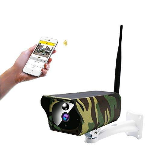 TONGTONG 2MP Solarkamera Outdoor wasserdichte Camouflage WiFi IP-Kamera Nachtsicht Ãœberwachung CCTV-Kamera Video Recorder TF-Karte