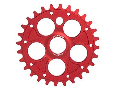 RMD Bike Co.   ALPHA kettenblatt BMX MTB Dirt   23T 25T 28T   Schwarz und Rot   Made in EU   (Rot, 28T)