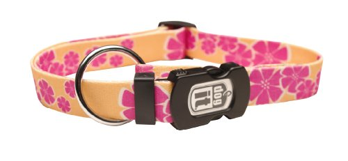 Dogit Style Aloha Medium verstellbares Nylon-Halsband mit Kunststoff, Snap, 5/8Zoll von 12-inch- 18, gelb (Aloha-snap)