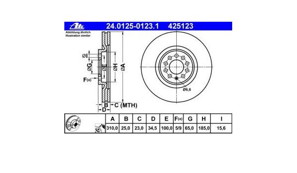 Bremsscheibe 24.0125-0123.1