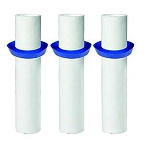 Pack de 3 manchons filtrants BWT - Indicateur de colmatage - Filtration 20 microns
