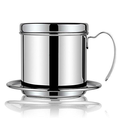 Kaffeemaschine Topf, Edelstahl Vietnamesisch Kaffee Drip Filter Maker 1Tasse Kaffee Drip Brewer–Tragbar für Home Küche Büro Außeneinsatz–Beste Geschenk Wahl für Baristas und Kaffee Liebhaber