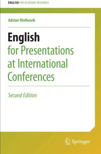 Portada del libro English for Presentations at International Conferences (English for Academic Research) by Adrian Wallwork (2016-04-01)