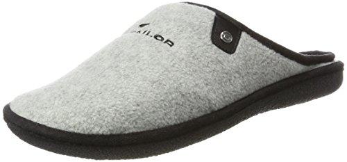 Tom Tailor Herren 3780701 Pantoffeln, Grau (Grey), 45 EU