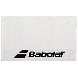 Babolat Tennis Handtuch weiß mit schwarzem Logo