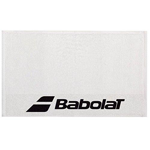 Babolat Tennis Handtuch weiß mit schwarzem Logo -