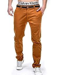 BetterStylz Premium Herren Chino Stoff Hose Pant BanderasBZ verschiedene Farben (S-XXL)