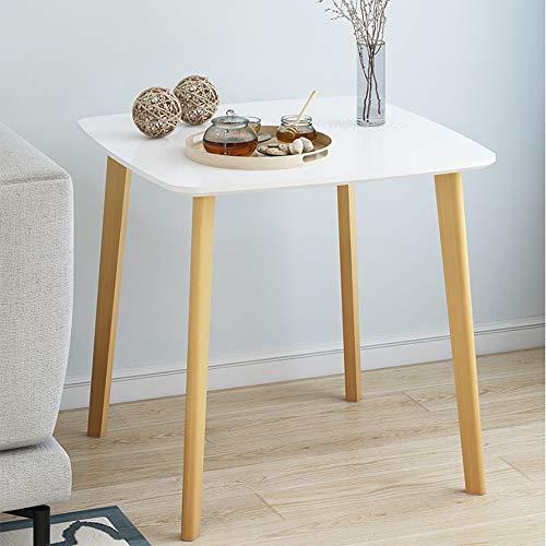 Cylficl Couchtisch Einfacher Moderner Kleiner Tisch Quadratischer Tisch Esstisch Sofa Side Nachttisch Ecke Mehrere Lässige Kleine Runde Tisch Couchtisch (Color : B, Size : 80 * 80 * 84cm) -