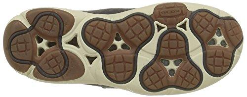 Geox J Nebula A, Baskets Basses Fille Grau (ANTHRACITEC9004)