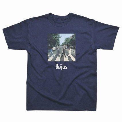 "Preisvergleich Produktbild Spike Kinder T-Shirt The Beatles ""Abbey Road"", navyblau, Gr. 140"