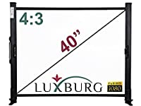 Luxburg 40-Inch 81 x 61 cm Full HD 3D Table Desk Projector Screen - Matt White