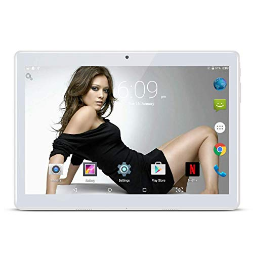 "tablet octa core 4gb ram 10.1"" pollici Tablet Android 8.1 Octa Core 4 GB RAM 64 GB ROM 3G Phablet con WiFi GPS Bluetooth Netflix Google Play (Argento)"