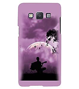 Printvisa Premium Back Cover Vector Guitarist View Design For Samsung Galaxy A7::Samsung Galaxy A7 A700F