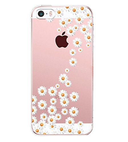 Vanki® Coque iPhone 5/5S/SE, TPU Souple Etui de Protection Silicone Case Soft Gel Cover Anti Rayure Anti Choc pour iPhone 5/5S/SE 1