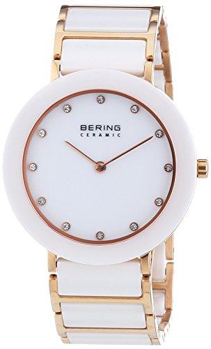 Bering Time  0 – Reloj de cuarzo para mujer, con correa de diversos materiales, color multicolor