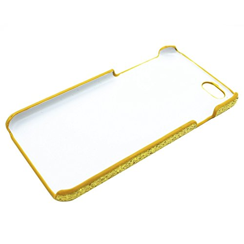 BING Für iPhone 6 Plus & 6S Plus, Shimmering Powder Galvanisieren Kunststoff Hard Case BING ( Color : Yellow ) Yellow