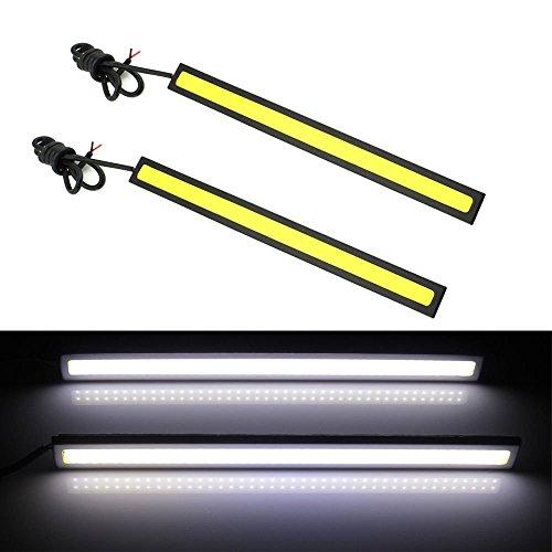 SAMGU LED Tagfahrlicht DRL wasserdicht 17cm DC 12V 6W Black Frame Weiß Lampen universal für Autos