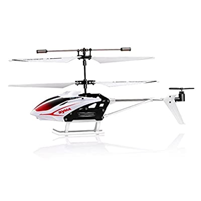 Syma S5 Gyroscope Speed 3 Channel Remote Control Infrared Helicopter - White from Syma