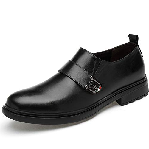 Hy-w Chaussures de Travail Formelles en Cuir pour Hommes, Printemps 2019, Nouvelles Chaussures en Cuir Confortables pour la fête et la soirée (Couleur : Noir, Taille : 35)