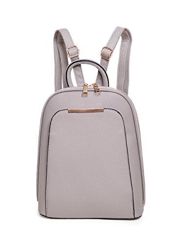 choies-damen-rucksack-reissverschluss-detail-pu-leder-daypack-casual-chic-schulrucksack-grau