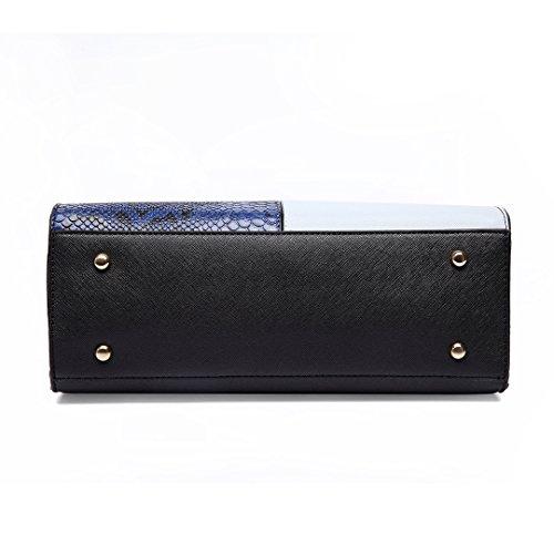 Plover Donne pelle sintetica borsetta Borse Messenger Borse cross-body borse da festa dark blue