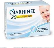 NARHINEL 20 Ricambi Usa e Getta Soft in Plastica Morbida con Filtro Assorbente per Trattenere il Muco ed Aiuta