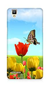 Amez designer printed 3d premium high quality back case cover for OPPO F1 (Roses n Butterfly)