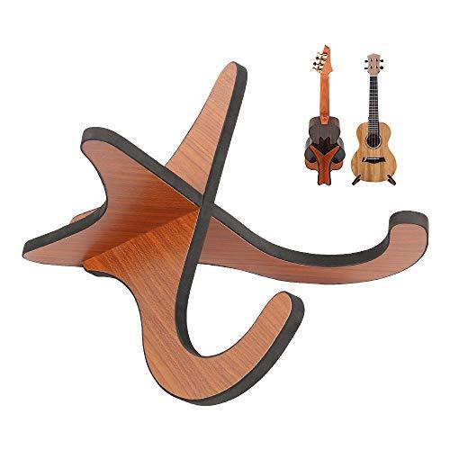 Ukulele Ständer Holz Klappständer Anti-Rutsch mit Gummistreifen am Rand Gitarrenständer Ukulele Halter für kleinere Musikinstrumente