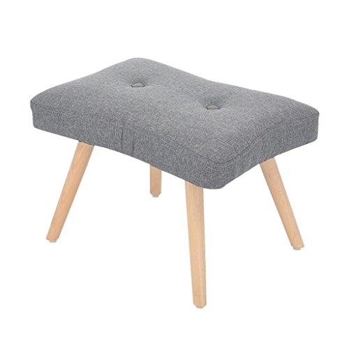 YYdy-Polsterhocker Holz gepolstert Ottoman Change Schuhe Hocker Fußhocker Fußstütze klein Sitz Fußstütze Stuhl geeignet für Wohnzimmer Schlafzimmer ( Farbe : E ) (Wohnzimmer Kleines Stuhl)