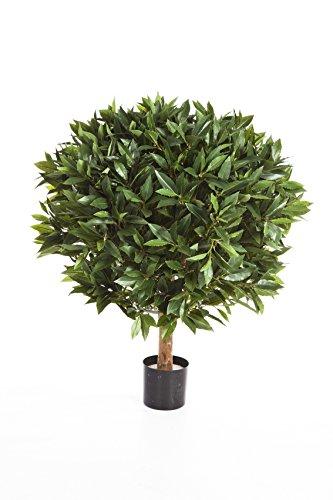 artplants Deko-Lorbeerbaum Tiberius, 2220 Blätter, grün, schwer entflammbar, 80 cm – Deko Baum/Kunst Lorbeerbaum