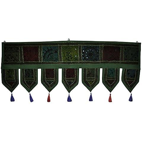Specchio indiano ricamato a mano, decorazione da appendere per lavori Patchwork, dimensioni: 100 x 40 Cm