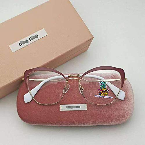 Cateye Metal Women Eyeglasses Protection & Designer Style for 54P-Red