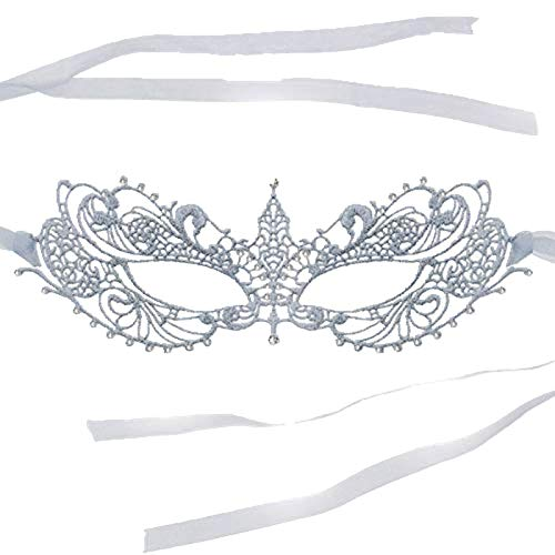 (RXBC2011 Silber Spitze Maske Venezianische Fasching Maskerade Ball Party fest)