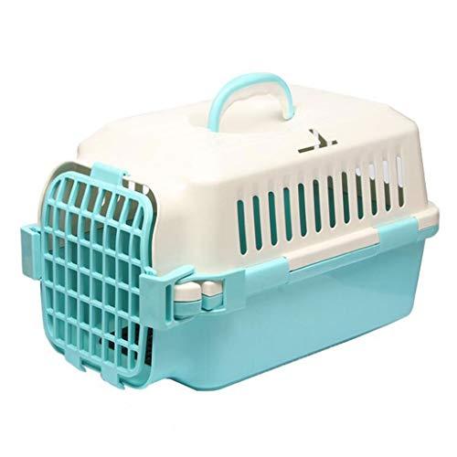 YULAN Tragbare pet Box Kunststoff käfig Katze und Hund Reise Transport Auto aus Lieferung 3 Farben 48 * 29 * 31 cm (Color : Green) - Hunter Green-drei Taschen