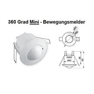 Mini Bewegungsmelder Einbau 360° Decke 10-800W Unterputz 8m