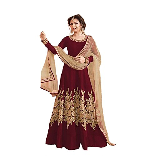 Jsv Fashion Women\'s Cottonsilk Gown Style PartyWear Beautyful Lehenga