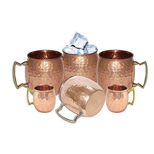 DakshCraft® Tafelgeschirr, handgefertigt aus reinem Kupfer gold-6