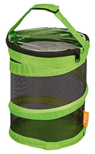 Moses 9785 Expedition Natur Pop-up Sammeleimer | Faltbarer Korb mit Reißverschluss und Henkel, grün