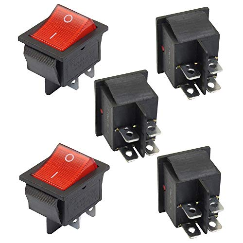 TrifyCore 5X interruttore basculante luce illuminato Rosso on/Off dpst 16A/V 20A/V CA