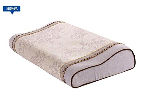 LiChunYan Ice oreille de soie Oreiller de mémoire Été oreiller frais Oreillette à col rapproché Memoire de rebondissement lent coton Coussinet d'oreiller (50 * 30 * 10cm) , a