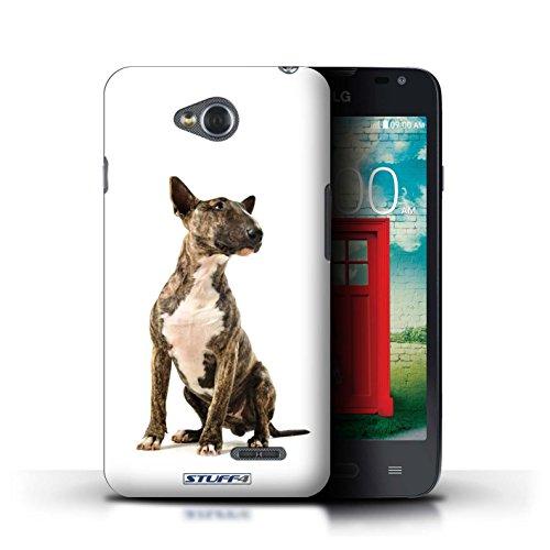 KOBALT® Hülle Case für LG L65/D280 | Bull Terrier Entwurf | Hund/Hunde Kollektion