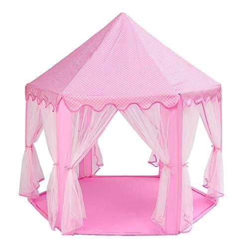 NO LOGO X-Baofu, Tragbare Prinzessin Schloss spielzelt aktivität fee Haus spaß spielhaus Strand Zelt Baby Spielen Spielzeug Geschenk for Kinder (Farbe : Rosa)