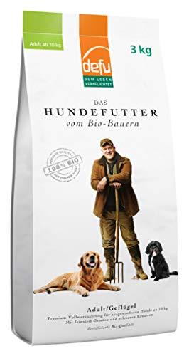 defu Bio Hundefutter Adult Geflügel, 3 kg, 1er Pack (1 x 3 kg)
