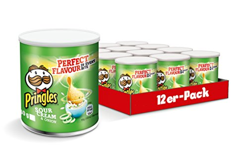 Pringles Sour Cream & Onion, 12er Pack (12 x 40 g) (Onion Cream Chips Sour)