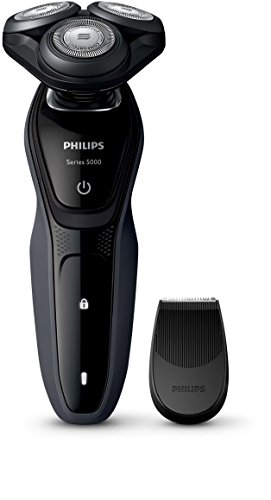 Philips Series 5000 Waterproof Mens Electric Shaver S527006 With Precision Trimmer UK 2 Pin Bathroom Plug
