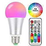 Cambia colore lampadina 10W E27 Edison RGBW luci ,120 color Choices, RGB + bianco caldo colorato, Dual RAM ,60 Watt equivalente telecomando incluso per home party decorazioni illuminazioni ambiente