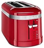 KitchenAid 4 Scheiben Langschlitz Toaster | Design Serie | neue Programme und Kabelaufwicklung inkl. | 5KMT5115 (Empire Rot)