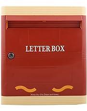 LAMBA'S PG01RI Wall Mounted Plastic Letter Box RED & Ivory